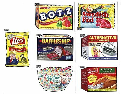 2017 Wacky Packages Alternative Facts 7-Card Complete Set  Trump GPK