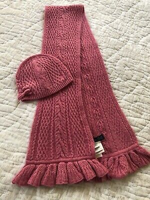 Ralph Lauren Kids Set Of Wool Girls  Pink  Scarf & Hat One Size
