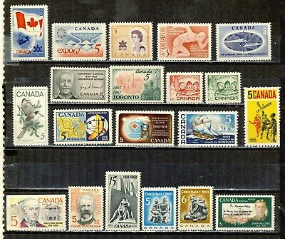 1967-1968 #453/#489 3¢ -15¢ Commemoratives & Christmas Issues Vfnh