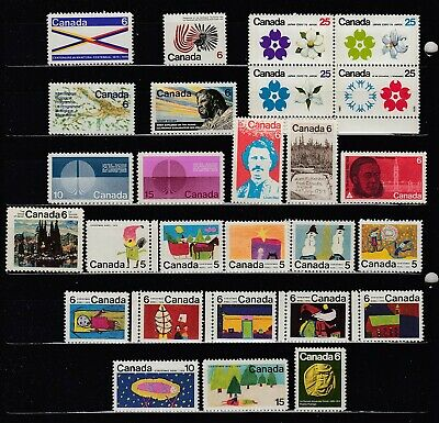 1970 #505-#531 Complete Year Sets 5¢ -25¢ Commemoratives & Christmas Issues Vfnh
