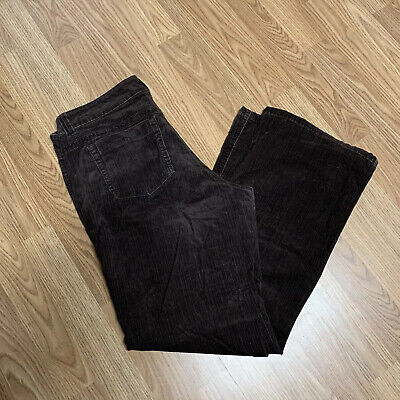 Lee Womens Corduroy Pants Sz 14 M Brown One True Fit Sits Low on the Waist BF5
