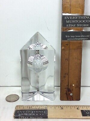 Waterford Crystal Times Square 2000 Millennium Star of Hope Prism Paper Weight