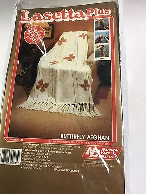 Lasetta Plus Butterfly Afghan Kit National Yarn Crafts