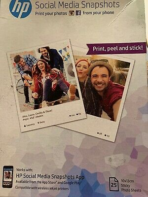 Photo Paper Stationery Office Supplies 265 Gsm 25 Sheets Hp W2g60a 10 X 13 Cm Social Media Snapshots Removable Sticky Photo Paper