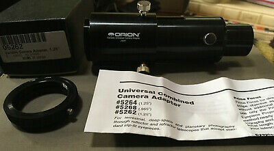 """Orion Universal camera to telescope 1.25"""" variable adapter w/Olympus T mount mad"""