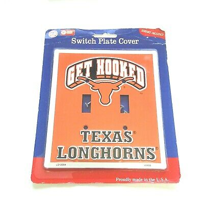Switch Plate Covers Football Teams Light Texas Longhorns Themed Collegiate