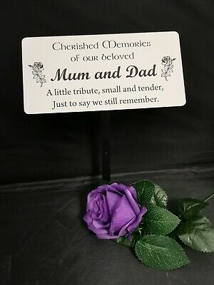 Memorial Stake Grave/Tree Marker Cremation with Personalised Plaque