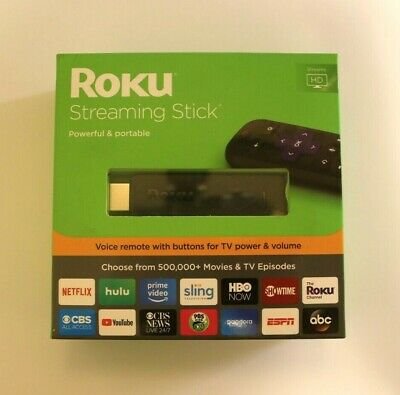Roku 3800R Streaming Stick + Voice Remote with TV Power & Volume