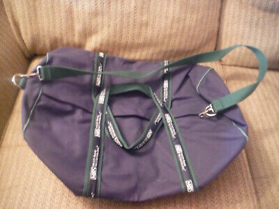 """NEW w/out Tags SCARBOROUGH & TWEED Blue Canvas 20"""" Length Duffle Bag Travel"""