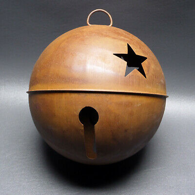 "Large 8"" Rusty Bell With Star Cutout"