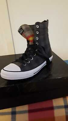 Scarpe Shoes Converse Chuck Tailor Woolrich High Rise Trainer Boot Nero Num.40