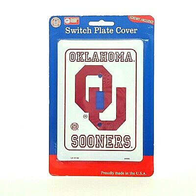 Single Light Switch Plate Covers Oklahoma Sooners Football Teams Collegiate