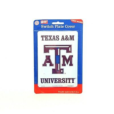 Single Light Switch Plate Covers Texas A&M University Football Teams Collegiate