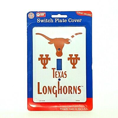 Single Light Switch Plate Covers Texas Longhorns Themed Collegiate Products
