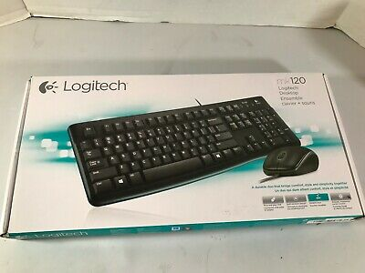Logitech MK120 920-002565 Wired Keyboard & Mouse