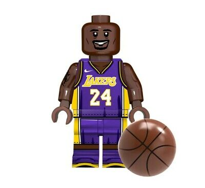 Custom Lego NBA Kobe Bryant Lakers Number 24 Minifigure