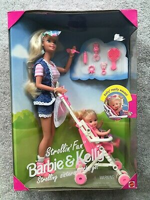 Mattel Barbie & Kelly, Strollin' Fun Playset- 1995. MIB Never Opened
