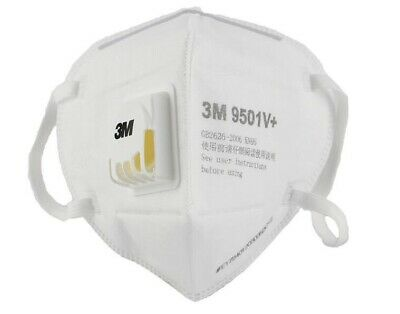 3M Face Mask 9501V+ N95 PM2.5 Dust Particulate Respiratory Protection mask M40