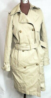 Womens Gap Beige Double Breasted Polyester Lined Belted Mac Trench Coat Small