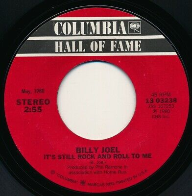 BILLY JOEL - DON'T ASK ME WHY / IT'S STILL ROCK AND ROLL TO ME - 45 Record NM