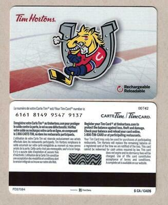 Tim Hortons 2018 OHL BARRIE COLTS Gift Card s/n # 6161 FD57084
