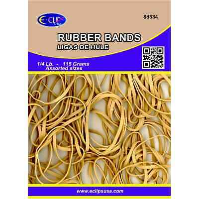 Rubber Bands- 4 Ounce Bag- Natural Color