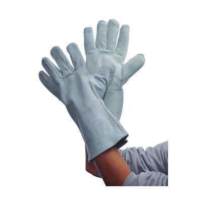Gray Leather Welding Gloves