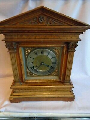 Antique 19Th Century Large Mantel Clock Striking On A Gong In Good Working Order