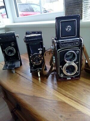 Yashica LM Twin Lens Reflex Camera with two bellows cameras