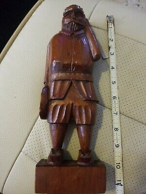 "Vtg Ouro Artesania Sancho Panza Wood Carved Figure Made In Spain 11"" TALL"