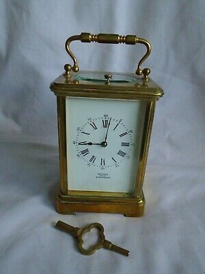 FRENCH LOUIS FERNIER REPEATER CARRIAGE CLOCK IN GOOD WORKING ORDER + KEY c1880