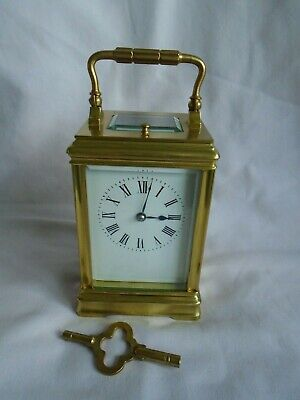 SMALL RICHARD & Co  REPEATER CARRIAGE CLOCK IN GOOD WORKING ORDER + KEY c1880