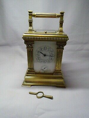 Very Large French Repeater / Alarm Carriage Clock In Excellent Condition + Key