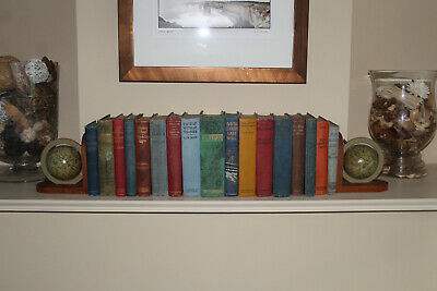 COUNTRY HOUSE SALE Large Collection Antique Cloth Bound Books,Vintage,Art Deco