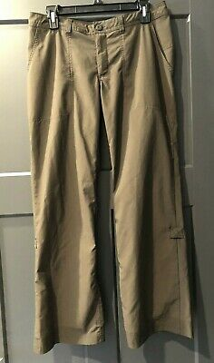 Women's Patagonia Outdoor Hiking Pants Lightweight Roll Up Legs Brown Sz 8
