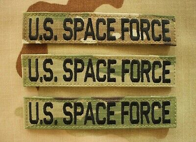Army Us Space Force Ocp Multicam Subdued Combat Branch Of Service Tape Hook Back