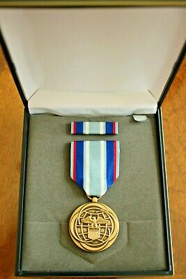Usaf Us Air Force Unissued Cased Air & Space Campaign Medal & Ribbon Set #1Ab