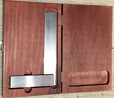 Master Precision Square In A Starrett Fitted Hardwood Case Made In Usa