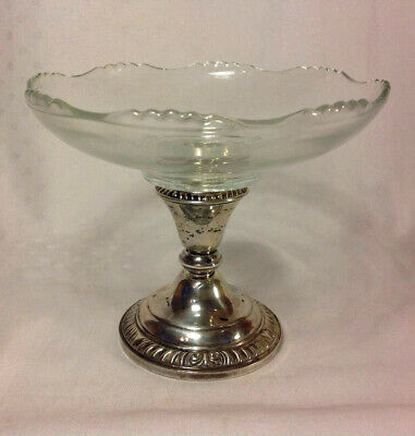 Vintage Sterling Silver Frank Whiting Compote Candy Dish/Candlestick Holder