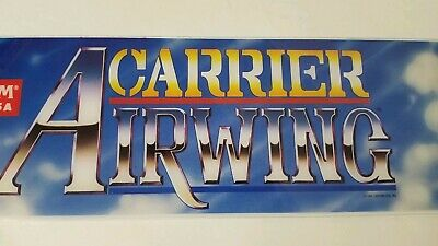 Capcom Carrier Airwing Arcade Marquee Video Game Room Vintage Sign Man Cave