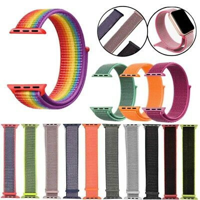 Woven Nylon Sport Loop Wristband Strap Best For Apple Watch iWatch Series 1-5