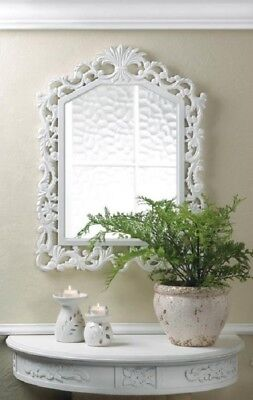 Shabby Chic Bathroom Decor Glam Vanity Mirror Bedroom White Wall Room Hanging