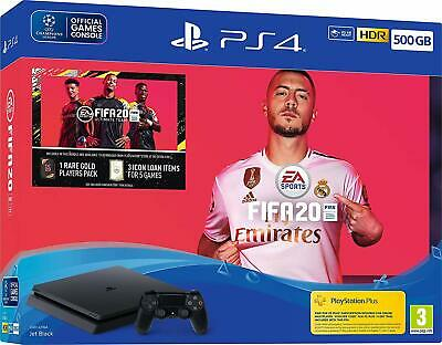 Sony Playstation 4 Slim Konsole PS4 500GB FIFA20 Bundle  NEU HÄNDLER OVP