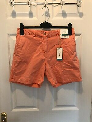 BNWT Joules Chino Shorts Coral UK 12
