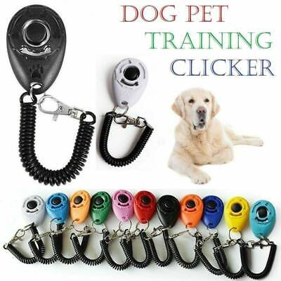 Dog Puppy Cat Pet Training Clicker Button Click Trainer Obedience Aid Wrist ABS