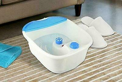 Electric Vibrating Foot Bath Spa Luxury Feet Soak Soother Massage Relaxing Home
