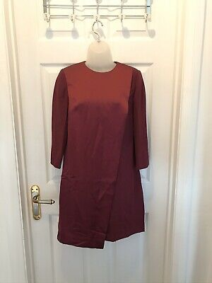 BNWT Ted Baker Col. by Numbers Satin & Crepe Shift Dress Size 1 UK 8