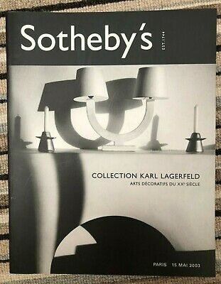 Sotheby's Catalogue. Collection Karl Lagerfeld. Paris May 2003