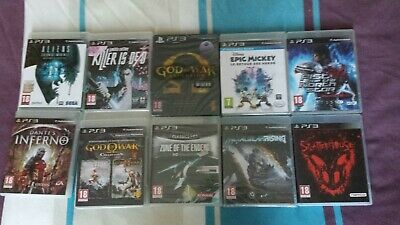 Lot jeux PS3 Splatterhouse God of war metal gear VF TBE