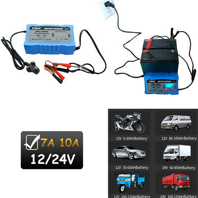 12V 24V Car Battery Starter Charger Intelligent Pulse Repair AGM GEL Motorcycle